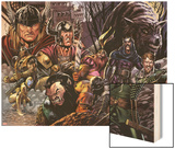 Warriors Three No.3 Cover: Fandral, Hogun, and Volstaag Wood Print by Neil Edwards