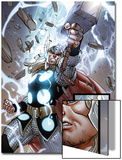 The Mighty Thor No.10: Panels with Thor and Mjolnir Posters by Pepe Larraz