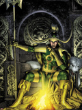 Thor: First Thunder No.2 Cover: Loki Sitting Plastic Sign by Jay Anacleto