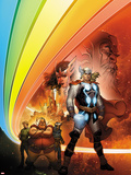 Thor: Whosoever Wields This Hammer No.1 Cover: Thor near the Rainbow Bridge Plastic Sign by Tom Raney
