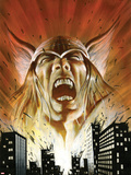 Thor: Heaven & Earth No.2: Thor Screaming Plastic Sign by Mark Texeira