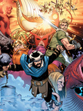 Thor: Tales of Asgard By Stan Lee & Jack Kirby No.4 Cover: Hogun, Fandral and Volstagg Plastic Sign by Olivier Coipel