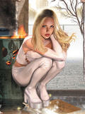 Emma Frost No.7 Cover: Emma Frost Charging Wall Decal
