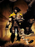 Astonishing X-Men: Xenogenesis No.4 Cover: Wolverine and Emma Frost Wall Decal by Kaare Andrews