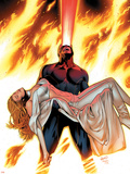 X-Men: Phoenix - Endsong No.4 Cover: Cyclops and Emma Frost Plastic Sign by Greg Land
