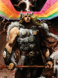 Thor: For Asgard No.4 Cover: Thor Standing Plastic Sign by Simone Bianchi