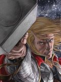 Astonishing Thor No.4 Cover: Thor with Mjolnir Plastic Sign by Mike Choi