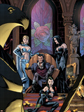 Uncanny X-Men No.454 Cover: White Queen, Shaw, Sebastian, Black Queen and Hellfire Club Charging Wall Decal by Stuart Immonen