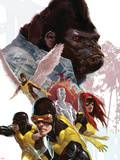 X-Men: First Class No.8 Cover: Cyclops, Marvel Girl, Angel and Gorilla Man Plastic Sign