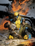 X-Men Deadly Genesis No.3 Cover: Wolverine Fighting Plastic Sign by Trevor Hairsine