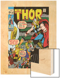 Thor No.181 Cover: Thor and Balder Wood Print by Neal Adams