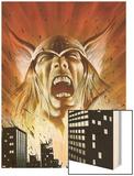 Thor: Heaven & Earth No.2: Thor Screaming Wood Print by Mark Texeira