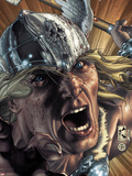 Thor: For Asgard No.3 Cover: Thor Screaming Plastic Sign by Simone Bianchi