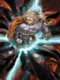 Astonishing Thor No.3: Thor with Mjonir in Lightning Plastic Sign by Mike Choi
