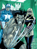 Wolverine Captain America No.3 Group: Wolverine, Captain America and Warbird Plastic Sign by Tom Derenick