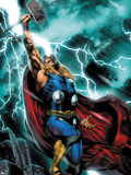 Thor: First Thunder No.1 Cover: Thor Standing Plastic Sign by Jay Anacleto