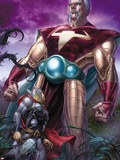Astonishing Thor No.1: The Stranger Standing Behind Thor Plastic Sign by Mike Choi
