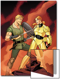 Warriors Three No.2 Cover: Fandral Fighting Art by Amanda Conner