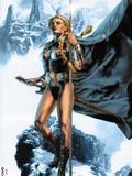 Valkyrie No.1 Cover: Valkyrie Posing Plastic Sign by Jay Anacleto