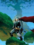 Astonishing Thor No.1 Cover: Thor Standing Plastic Sign by Esad Ribic