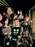 X-Factor No.1 Cover: Madrox, Strong Guy, Wolfsbane, Siryn, Rictor and Monet Plastic Sign by Ryan Sook