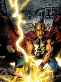 Thor: First Thunder No.3 Cover: Thor Smashing Plastic Sign by Jay Anacleto