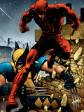 Wolverine No.24 Cover: Daredevil and Wolverine Wall Decal by Greg Land