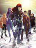 Generation Hope No.5 Cover: Hope Summers, Laurie Tromette, Gabriel Cohuelo, Idie Okonkwo and Others Plastic Sign by David LaFuente