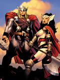 The Mighty Thor No.2: Sif and Thor Plastic Sign by Olivier Coipel