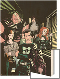 X-Factor No.1 Cover: Madrox, Strong Guy, Wolfsbane, Siryn, Rictor and Monet Wood Print by Ryan Sook