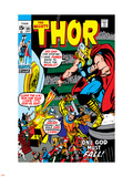 Thor No.181 Cover: Thor and Balder Plastic Sign by Neal Adams