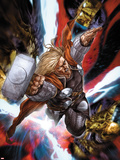 Astonishing Thor No.3: Thor Flying with Mjonir Plastic Sign by Mike Choi