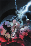 Thor: God of Thunder 10 Cover: Odin, Gorr Plastic Sign by Esad Ribic