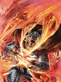 Thor: The Deviants Saga No.5 Cover: Thor Running and Screaming Wall Decal by Stephen Segovia