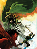 Journey Into Mystery No.624 Cover: Loki, Hela, and Mephisto Fighting Wall Decal by Stephanie Hans