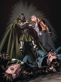X-Factor No.201 Cover: Miller, Layla and Dr. Doom Print by David Yardin