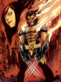 Wolverine and Jubilee No.3 Cover: Wolverine Flaming Wall Decal by Nimit Malavia