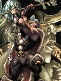 Thor: For Asgard No.2 Cover: Thor Slashing Plastic Sign by Simone Bianchi