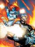 X-Men No.196 Cover: Mystique and Cable Plastskilt av Humberto Ramos