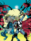 Thor No.620 Cover: Thor and Odin Fighting Wall Decal by Pasqual Ferry