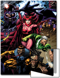 X-Men: Legacy No.209 Cover: Toad, Quicksilver, Scarlet Witch and Magneto Posters by David Finch