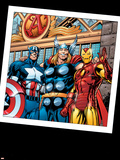 Thor No.73 Group: Thor, Iron Man and Captain America Plastic Sign by Scot Eaton