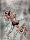 Wolverine Captain America No.3 Cover: Wolverine and Captain America Wall Decal by Tom Derenick