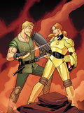 Warriors Three No.2 Cover: Fandral Fighting Plastic Sign by Amanda Conner