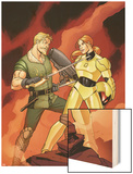Warriors Three No.2 Cover: Fandral Fighting Wood Print by Amanda Conner