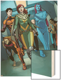 Generation Hope No.5: Hope Summers, Laurie Tromette, Gabriel Cohuelo, Idie Okonkwo and Others Wood Print by Jamie McKelvie