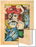 Thor No.180 Headshot: Odin Wood Print by Neal Adams