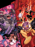 Wolverine & The X-Men No.7 Cover: Kitty Pryde, Beast, Iceman, and Rachel Summers Plastic Sign by Nick Bradshaw