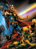 Thor: First Thunder No.5 Cover: Thor Screaming as Loki is on the Ground Plastic Sign by Jay Anacleto