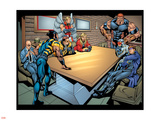 Weapon X No.18 Group: Wolverine, Angel, Juggernaut, Professor X, Cyclops and X-Men Wall Decal by jeff Johnson